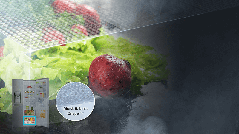 It can keep veggies fresh with the Moist Balance Crisper