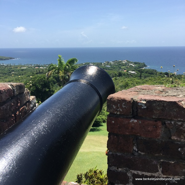 cannon plus ocean view from Fort King George in Scarborough, Tobago