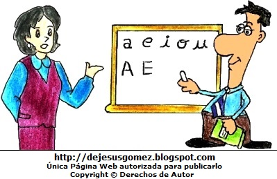 Dibujo de Maestros o profesores pintado a colores. Dibujo de maestros hecho por Jesus Gómez