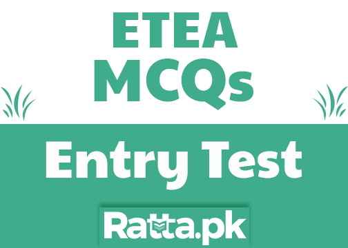 ETEA Entry 2018 Test MCQs For Engineering & Medical