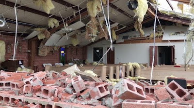 Congregation 'Miraculously' Unharmed After Tornado Destroys Church Around Them