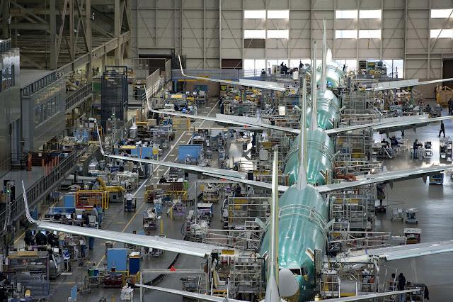 Boeing's Everett Production Line