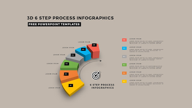 Multi Step 3D Circular Process Diagram Infographic Free PowerPoint Template Slide 8