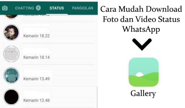 Cara Mudah Download Foto dan Video Status WhatsApp