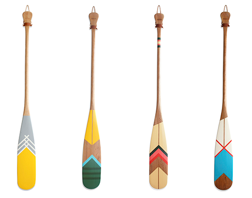 Good design makes me happy: Painted Canoe Paddles