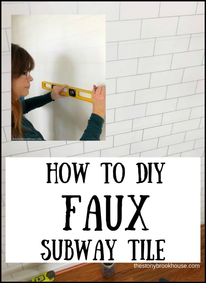 how to diy faux subway tile the