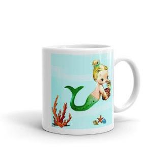 baby mermaid designer coffee mug