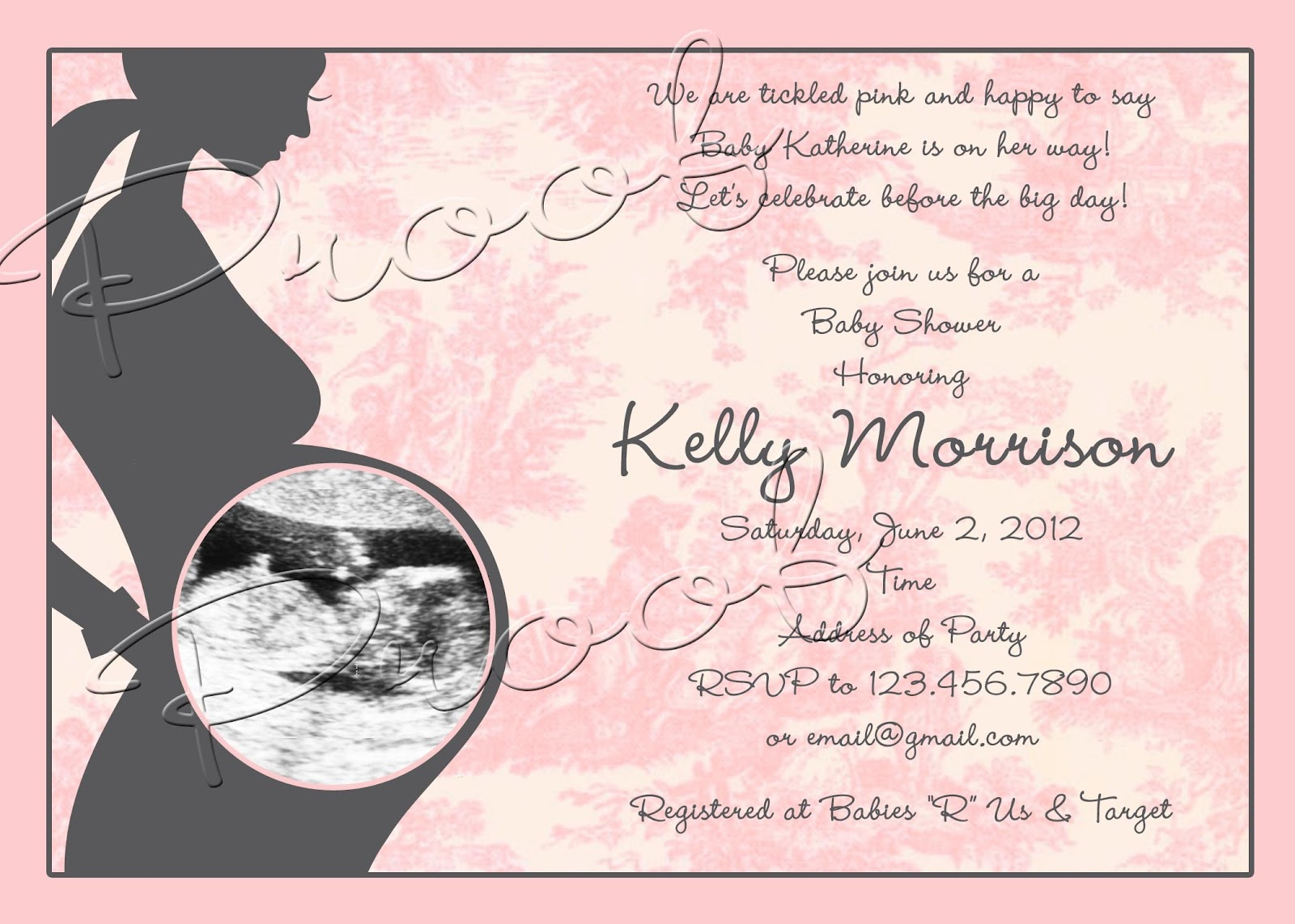 Fanci Prints by Tiffany: Silhouette Baby Shower - Invitation