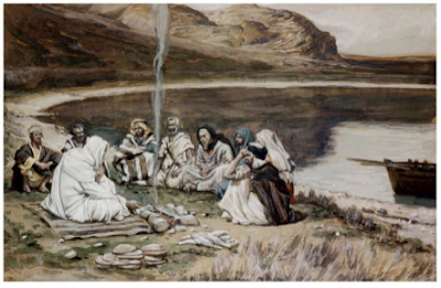 Christ eating with His disciples - James Tissot