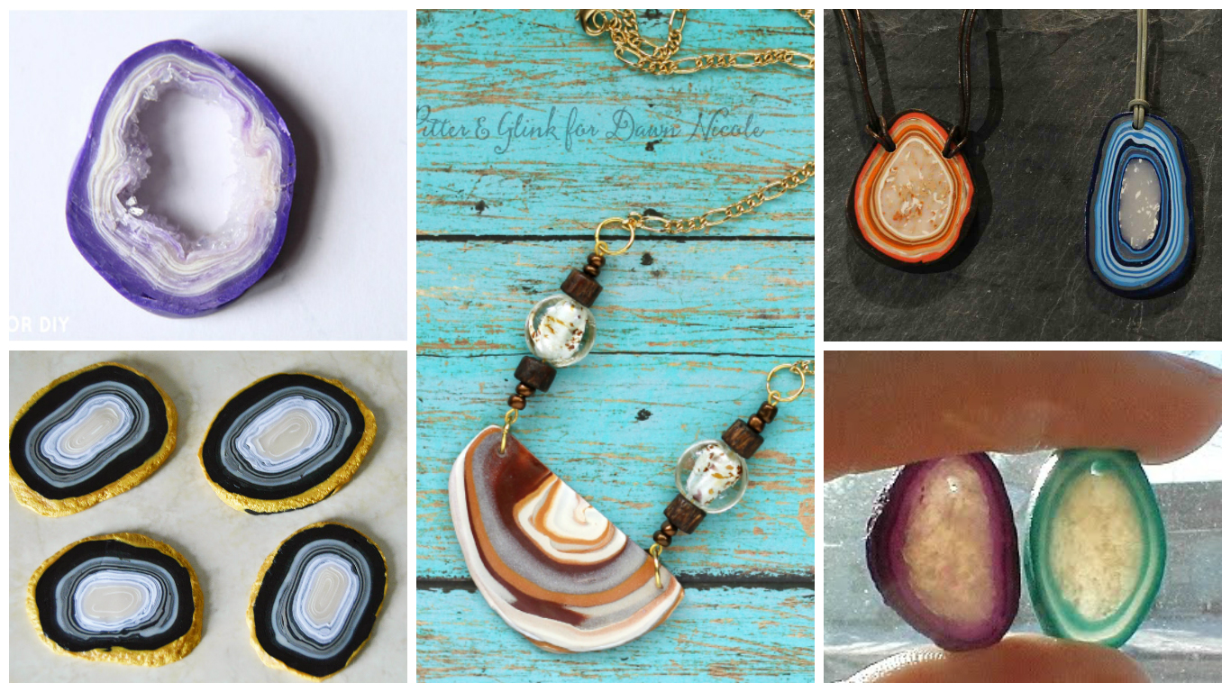 Two Cheeky Monkeys: DIY Roundup: Faux Agate or Geode Slices From ...
