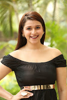Mannara Chopra in Short Off Shoulder Black Dress ~  Exclusive 058.JPG