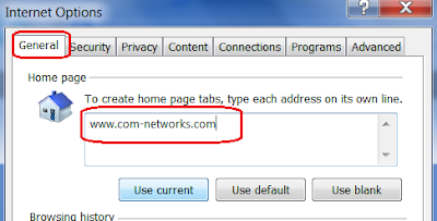 change your Home Page in Internet Explorer