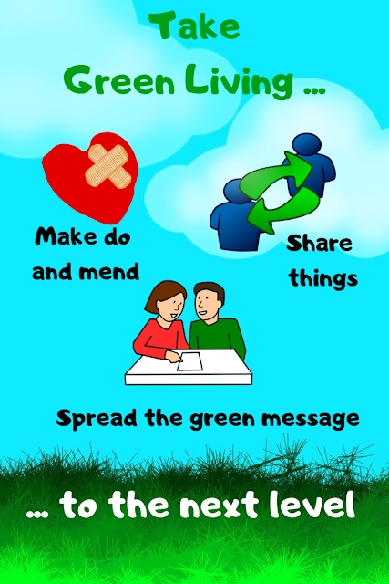 Going greener - mend, share things, spread the green message