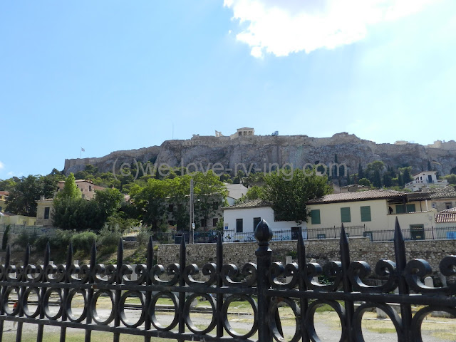 The view of the Acropolis from the ruins of the Roman Agora