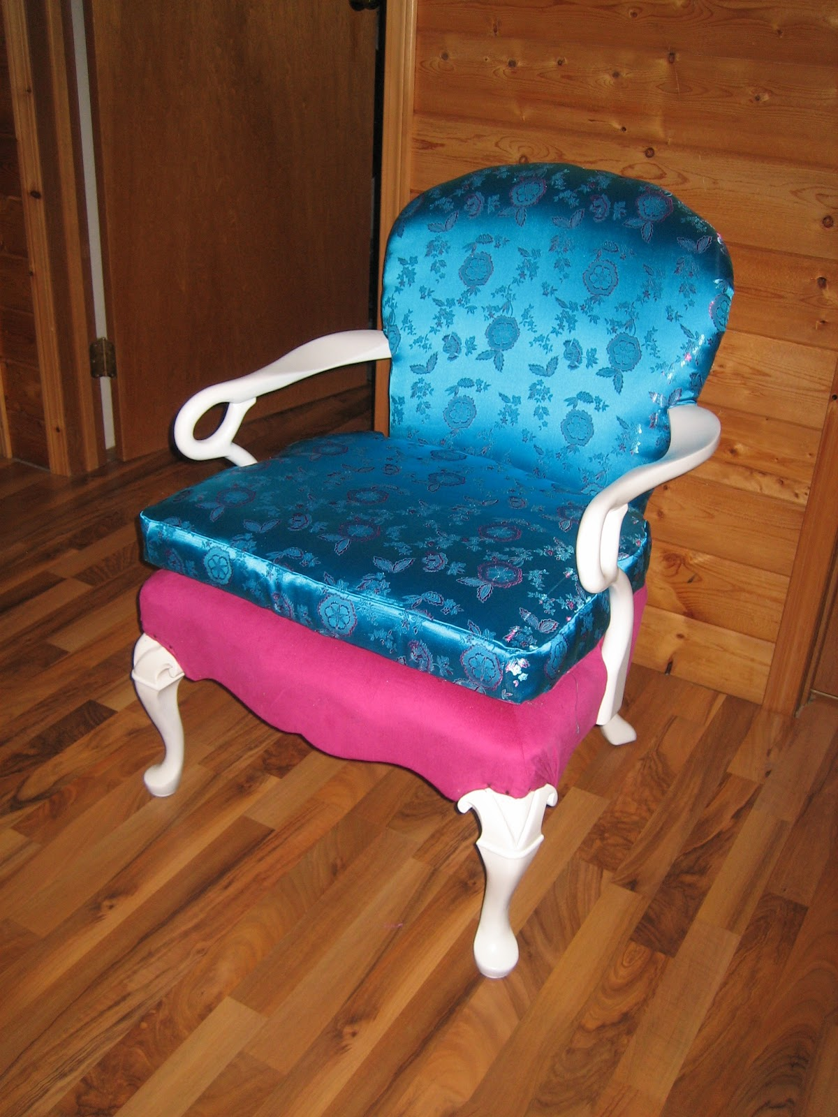 hot pink office chair pillow macgirlver makeover turquoise and desk