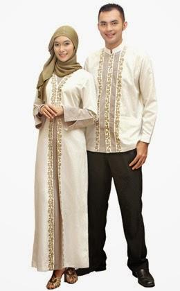 Model Baju Muslim Couple Warna Putih