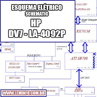 Esquema Elétrico Notebook Laptop HP Pavilion Dv7 LA-4092P Manual de Serviço  Service Manual schematic Diagram Notebook Laptop HP Pavilion Dv7 LA-4092P     Esquematico Notebook Laptop HP Pavilion Dv7 LA-4092P