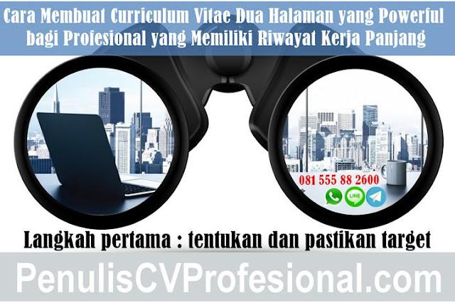Jasa Pembuatan CV untuk Profesional Berpengalaman