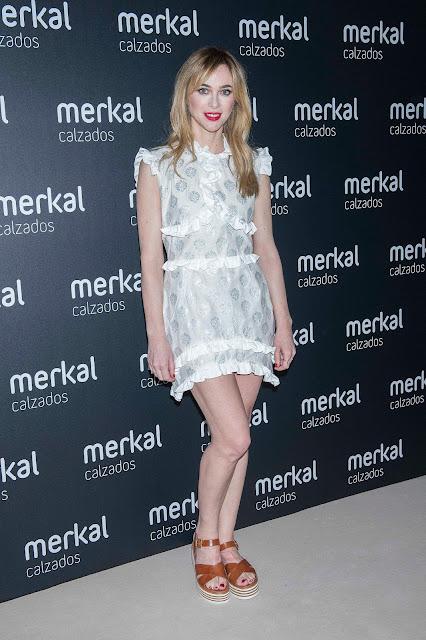 Marta Hazas, presente en Merkal Fashion Show, primer desfile de calzado de Merkal Calzados.
