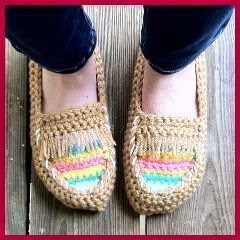 MOCASINES TRIBALES A CROCHET