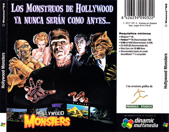 Hollywood Monsters Carátula trasera 1