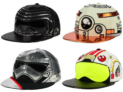 Star Wars: The Force Awakens Big Face 59Fifty Fitted Hat Collection by New Era – Kylo Ren, BB-8, Captain Phasma & X-Wing Pilot