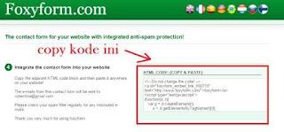 kode halaman kontak