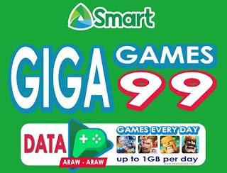 Smart Giga Games 99 – 2GB Data + 1GB of Games All Day for 7 Days
