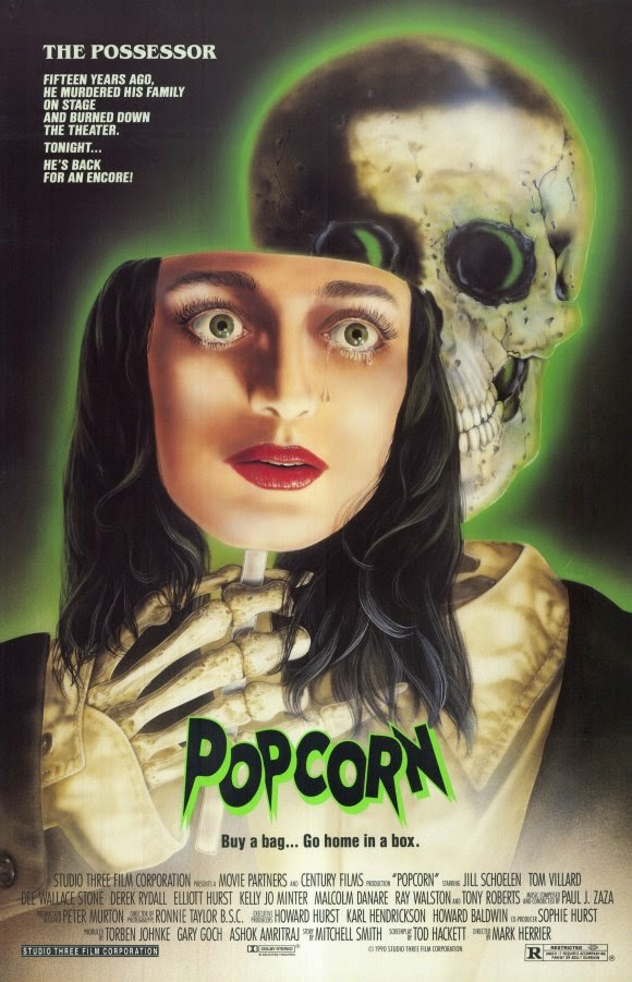 Popcorn 1991 horror movie poster