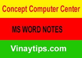MS WORD NOTES
