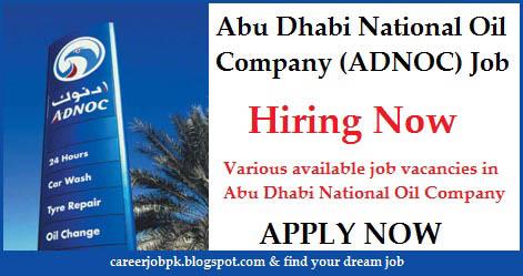 ADNOC Current Job Vacancies
