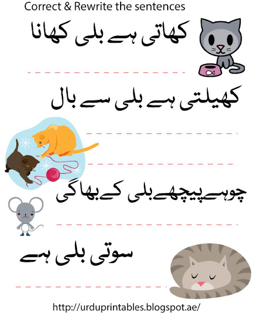 Urdu Printable Worksheets & More