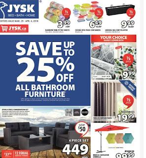 JYSK Canada Flyer March 29 – Apr 4, 2018