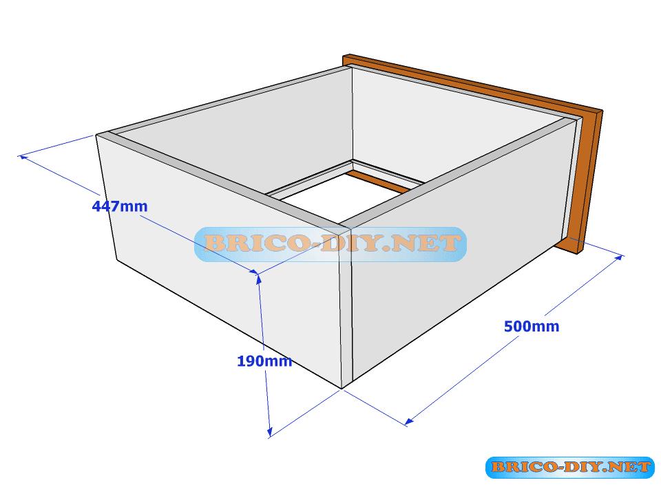 Plano y medidas de c mo hacer una comoda de melamina con for Planos de muebles de cocina pdf