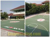 Jasa Pengecatan Lapangan Basket Bekualitas | Branding Bank DKI