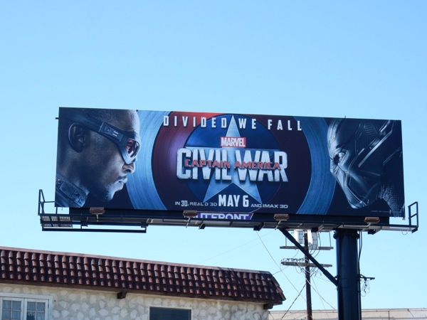 Captain America Civil War Falcon Black Panther billboard