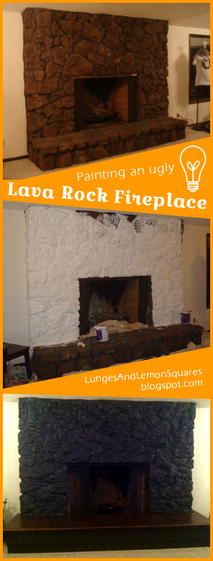 Painting A Lava Rock Fireplace