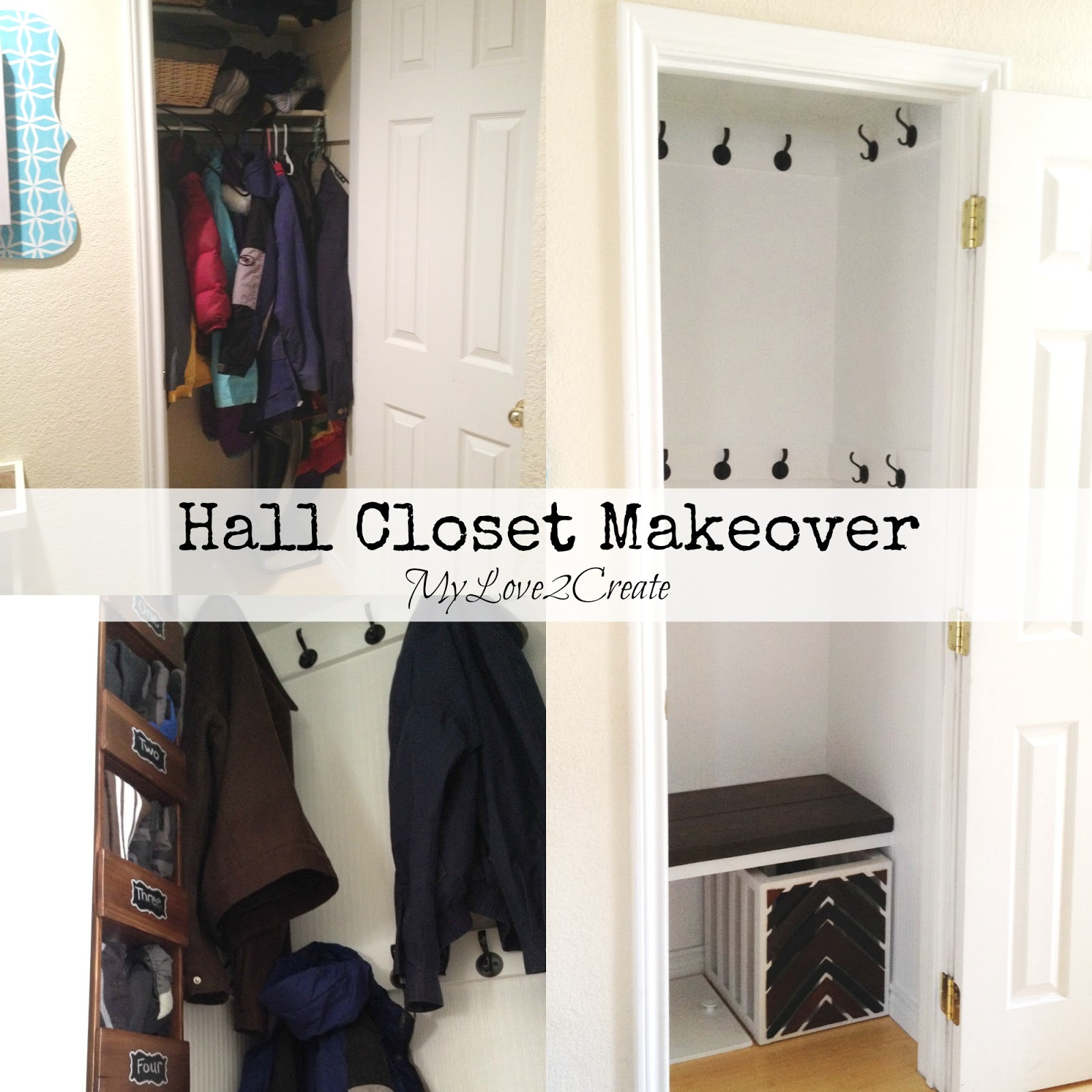 Hall Closet Makeover My Love 2 Create