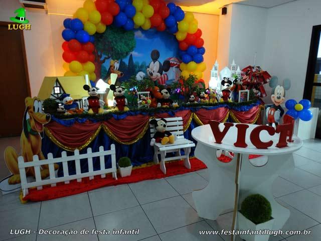 Decoração luxo de aniversário Mickey Mouse para festa infantil masculina