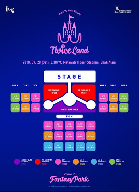 TWICE'S TWICELAND ZONE 2 FANTASY PARK IN KL - Concert Seating Plan