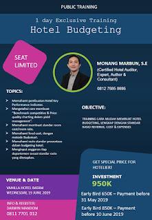 Hotelier Training Program (Batam): Hotel Budgeting