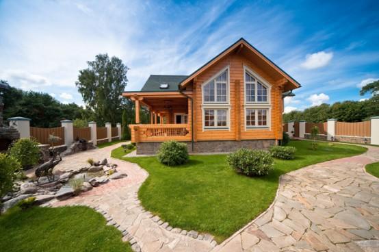 Disenyoss decoracion una casa de madera natural - Casas de madera natural ...