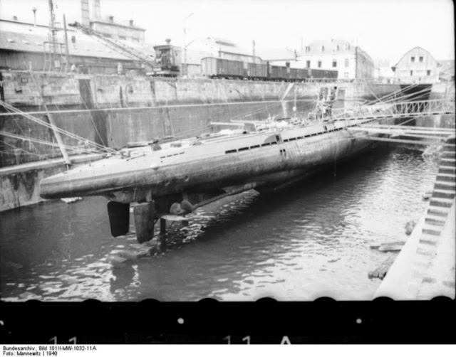 2 December 1940 worldwartwo.filminspector.com U-37 drydock Lorient