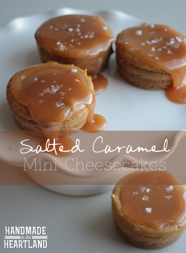 how to make salted caramel cheesecakes in a muffin tray