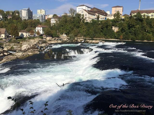 瑞士。我們去。沙夫豪森 Schaffhausen。歐洲最大的瀑布。萊茵瀑布 Rhein Fall