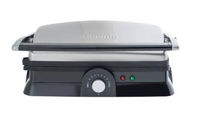 H.Koenig GR20 - Grill panini, 2000 W, color negro y gris