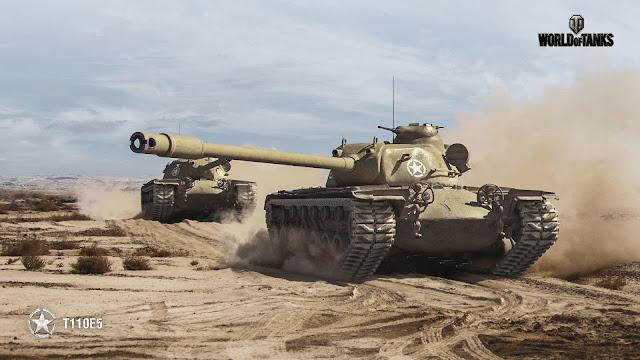 T110E5 trên sa mạc - ảnh của game thủ vẽ
