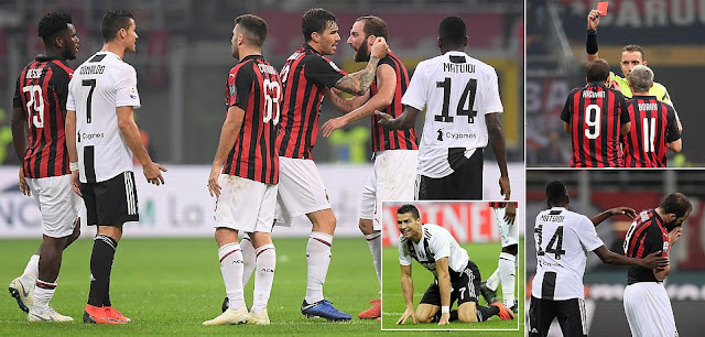Ronaldo Reveals Sympathy For Higuain After Milan Striker Saw Red During Defeat Against Juventus