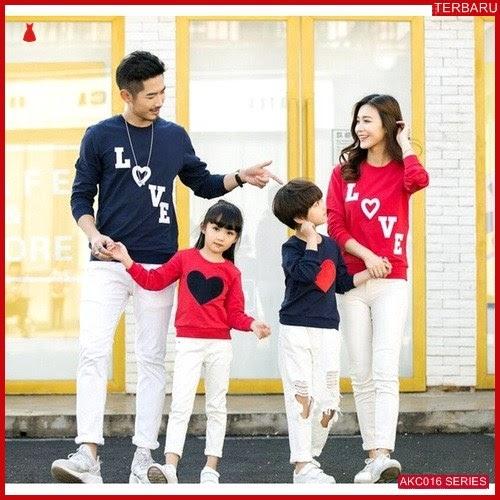 AKC016S133 Sweater Couple Love Anak 016S133 Keluarga Tangga BMGShop