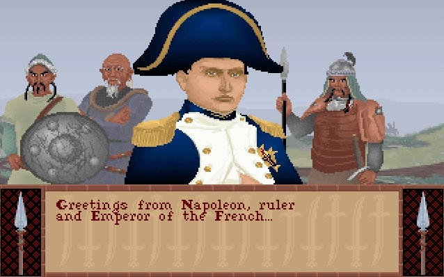 Screenshot of Napoleon in Sid Meier's Civilization